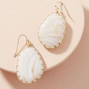 ANTHROPOLOGIE | Issoria Drop Earrings, White